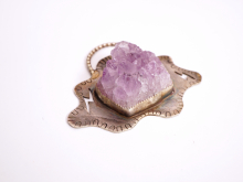 Craggy Clouds Amethyst Pendant