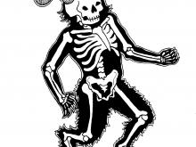 Skeletal Satyr - Art Print