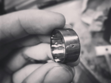 Unstitched Ring, Blackened