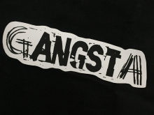 gANGSTer- extra large Vinyl Sticker
