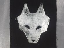 Wolf Block Print - Patch