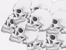 Sketchy Skull - Sticker
